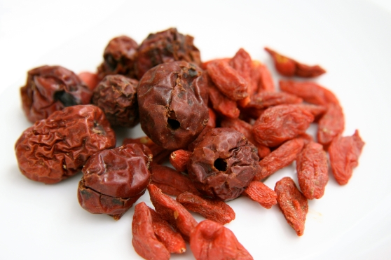 Goji berries and red dates