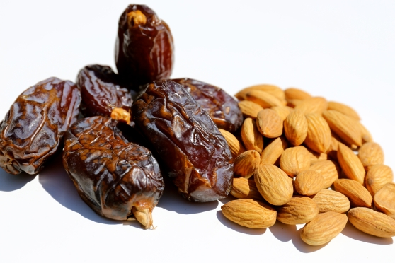 Medjool dates and almonds