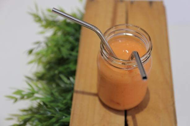 Smoothie in cool jar
