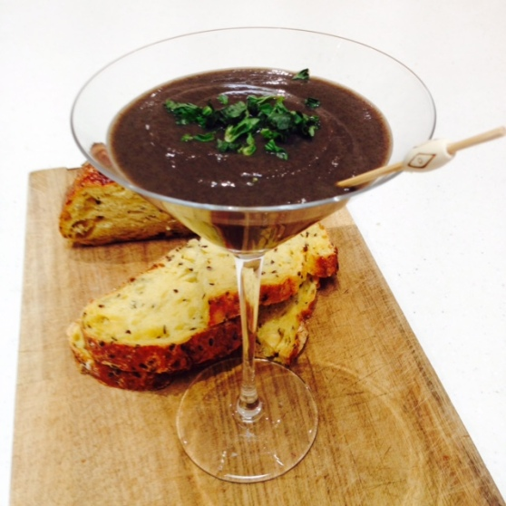 Mushroom and Chestnut Martini Soup